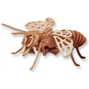 3-D Wooden Puzzle - Honeybee -Affordable Gift for your Little One! Item #DCHI-WPZ-E030